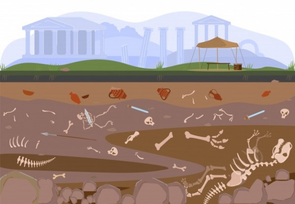 archaeology-paleontology-excavation-digging-soil-layers-by-archaelogists-with-artifacts-treasures-discovery-illustration_169479-316